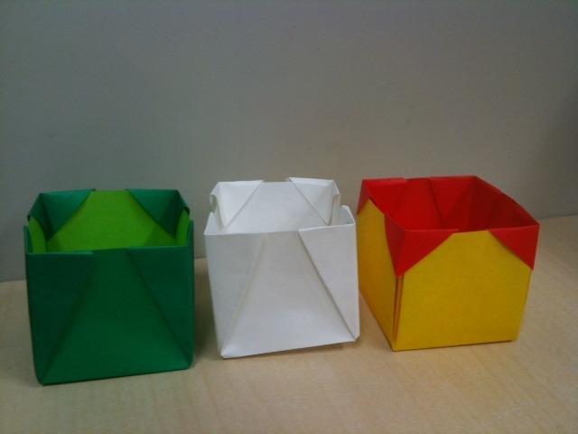 パ:折り紙 立方体型の箱 - い ...