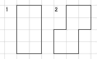 正方形2枚からの立体